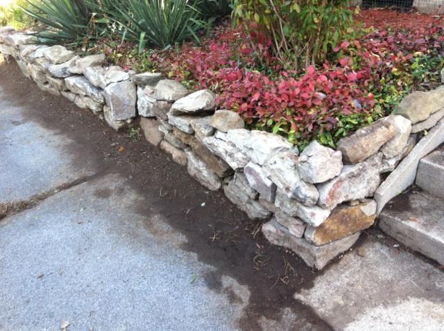 Natural Stack Stone Retaining Wall
