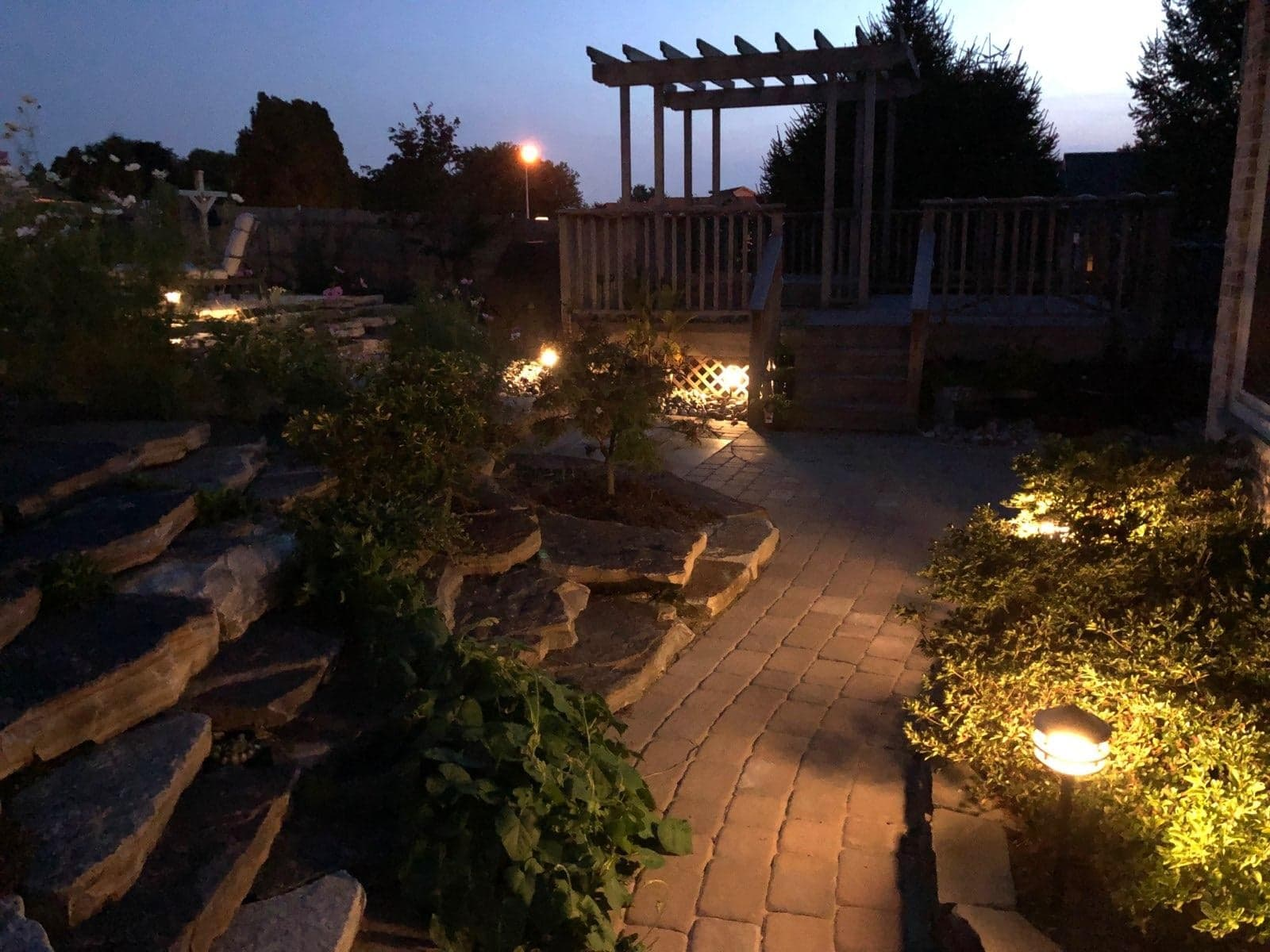 walkway and porch lighting