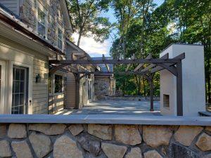 stone patio wall