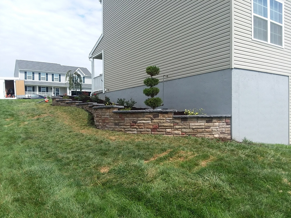 retaining wall - reading pa
