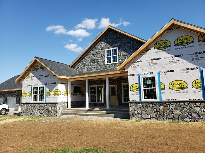 Natural stone on house - mohrsville pa