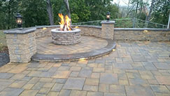 hardscaping services and outdoor lighting both electrical and fire by A Stones Throw LLC