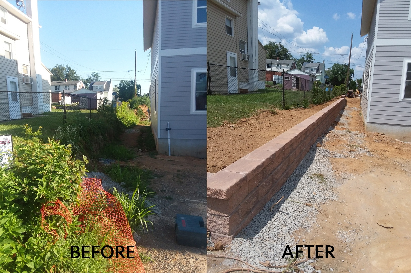 retaining wall installation allentown pa