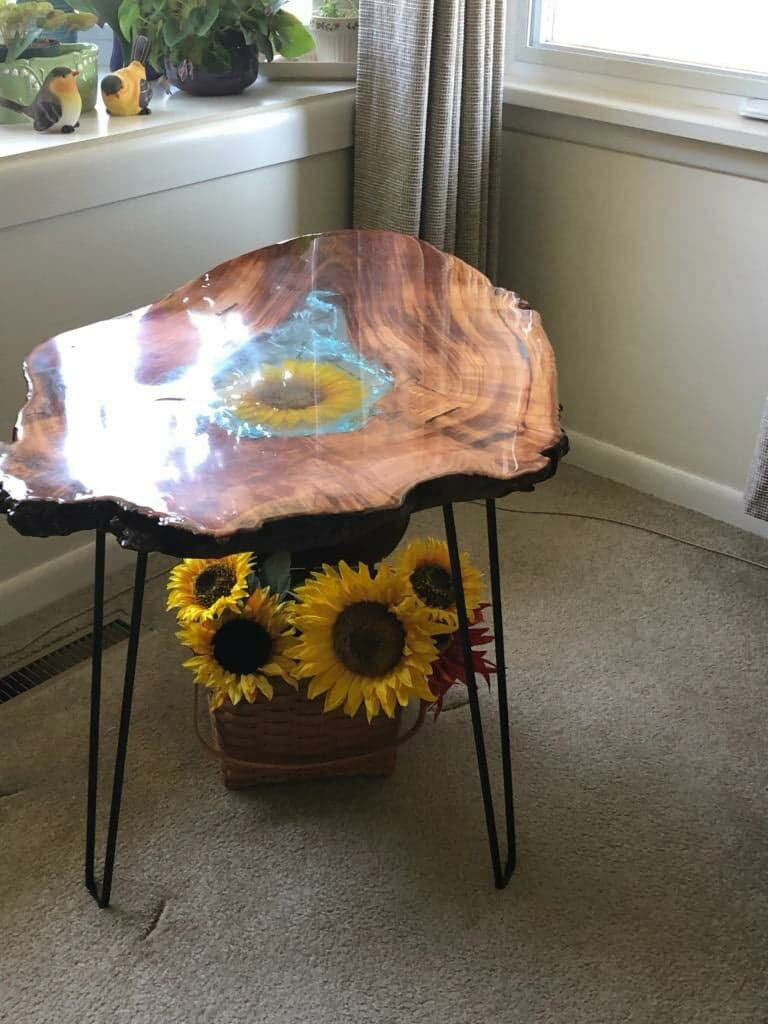 Sunflower Accent Table - Swerl Designs