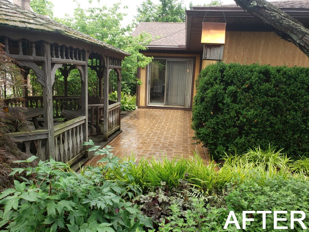after walkway - new