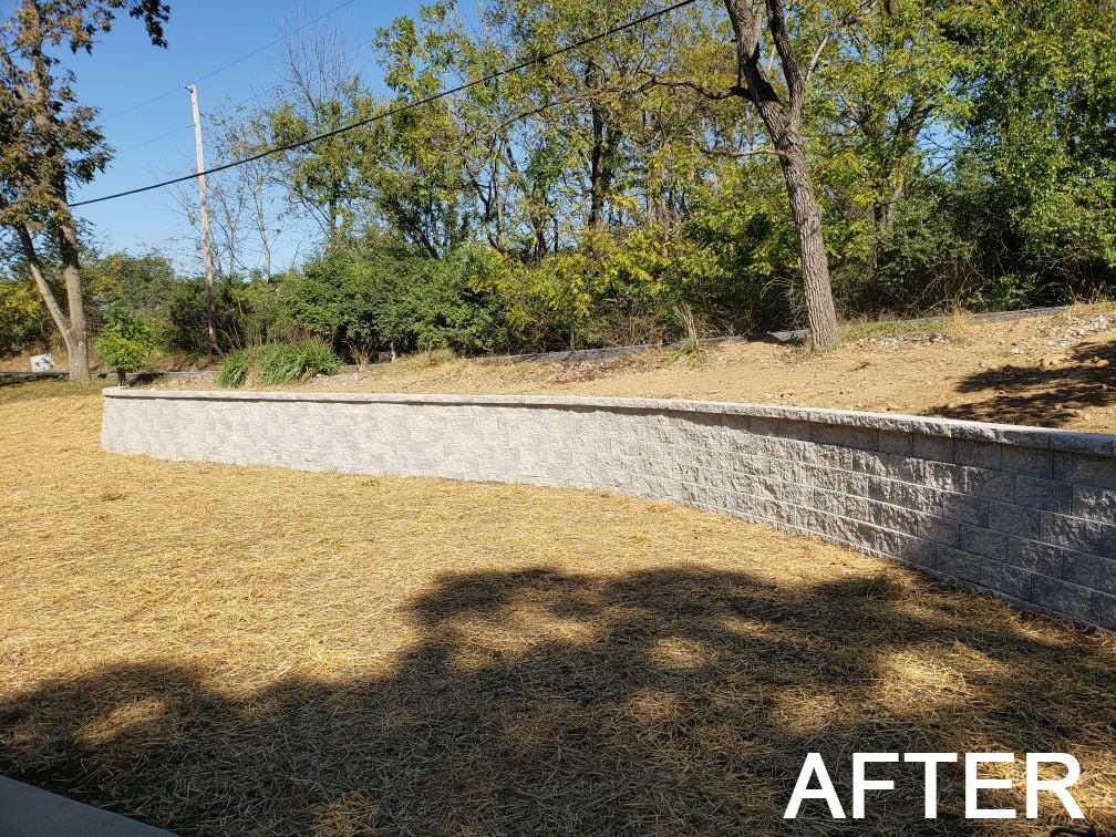 retaining wall after - new